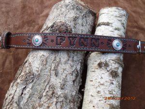 Halsband Leder mit Namen